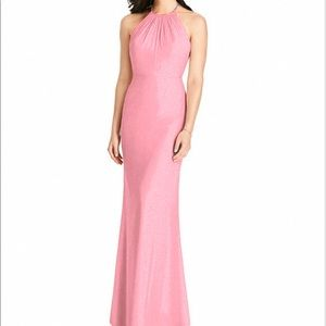 Dessy Collection Halter Neck Ruffle Chiffon Gown10